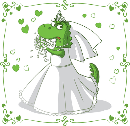 Bridezilla Vector Cartoon