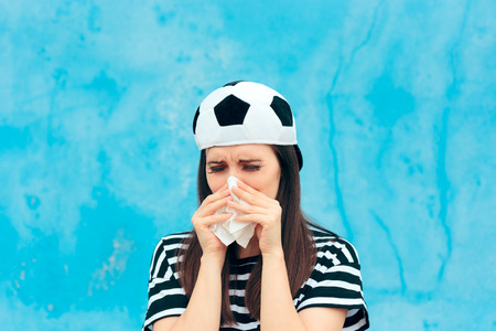 Sad Upset Crying Football Soccer Female Fan