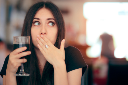 Funny Girl Reacting after Drinking Frizzy Soda Drink