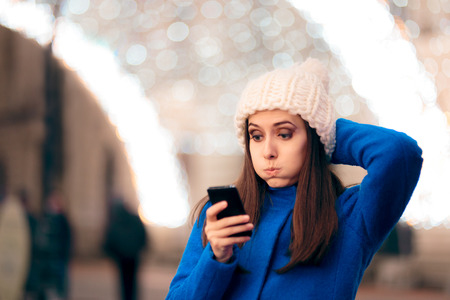Girl Receiving Inappropriate Text Messages on Christmas Time