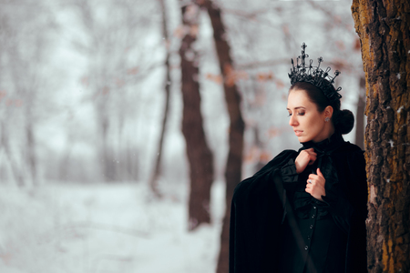 Evil Queen in Magical Forest Winter Wonderland