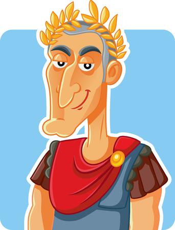 Julius Caesar Roman Emperor  Vector Caricature