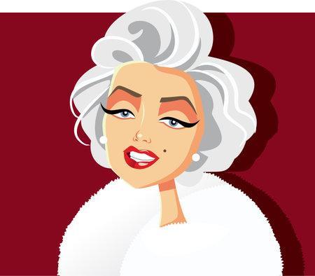 N.Y.,U.S. May 20, 2019, Marilyn Monroe Vector Caricature Redakční