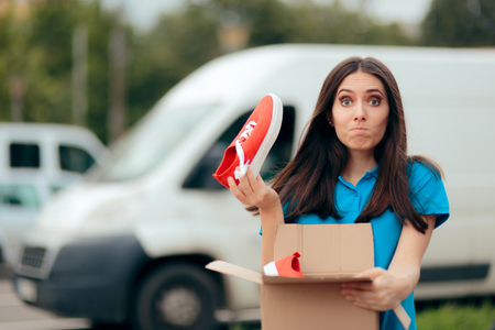 Woman Unsatisfied with Internet Order Receiving Bad Shoes