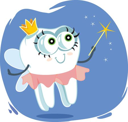 Tooth Fairy Vector Cartoon Design