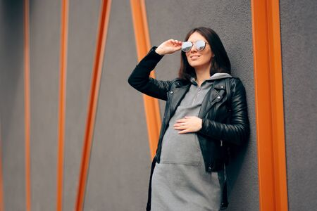 Fashion Portrait of a Stylish Pregnant Woman