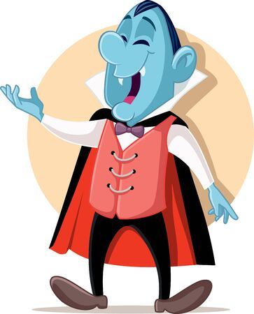 Funny Vampire Cartoon Character