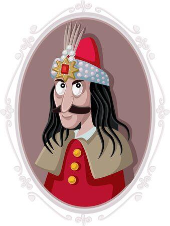 Vlad III Dracula Tepes Vector Caricature