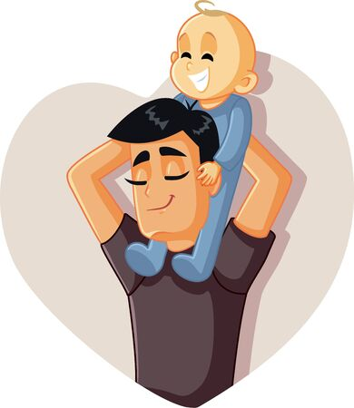 Happy Father Holding Baby Up Playing Together