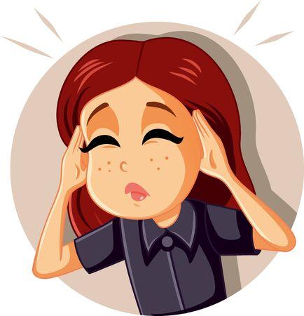 Woman Feeling Sick Suffering from a Headache