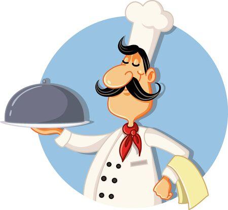 Cartoon Chef Restaurant Mascot Vector Illustration