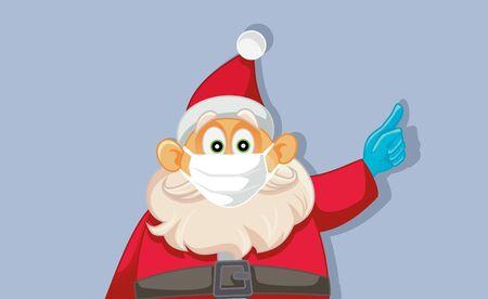 Santa Claus Wearing Medical Face Mask