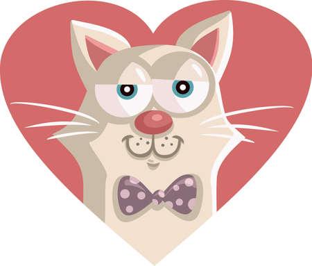 Cute Vector Cat Cartoon Character Mascot