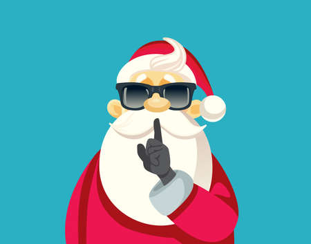 Secret Santa Ready For Christmas Party Vector Illustration