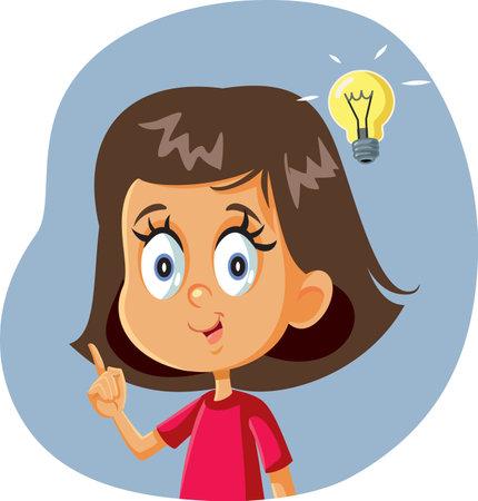 Little Girl Having a Clever Idea