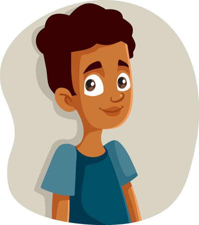 Happy Smiling African Teen Boy