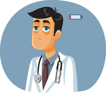 Exhausted Medical Doctor Suffering of Burnout