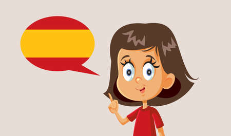 Little Girl Learning to Speak Spanish