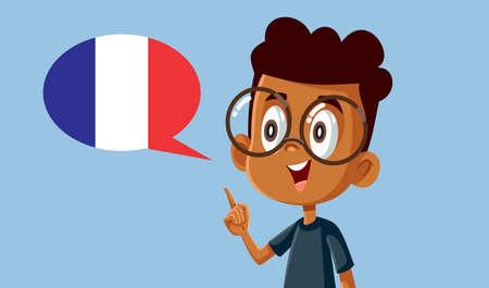 Smart Boy Learning to Speak French