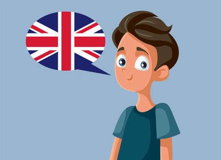 Teen Boy Speaking English Vector Cartoon