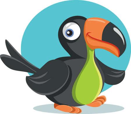Funny Cartoon Toucan Bird Vector Illustration Illustration
