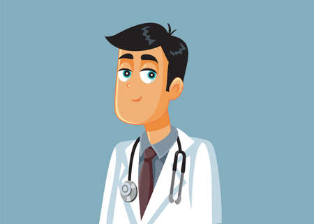 Friendly Smiling Medical Doctor Vector Cartoon Illustration