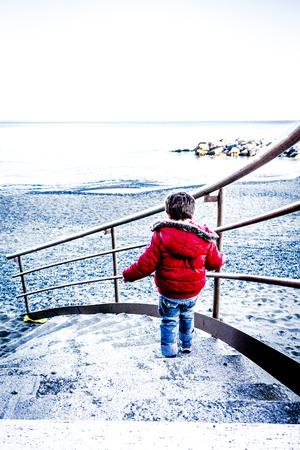 descending: child Descending a Staircase