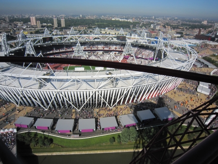 Olympic Stadium from the top of the Orbit