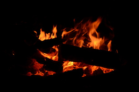 the heat of the fire