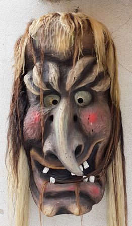 Monster face mask from traditional event in Loetschental