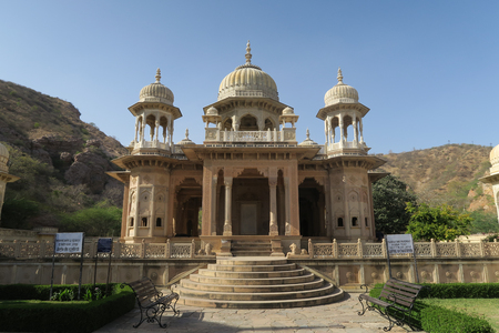 Beautiful quiet cenotaphs in Jaipur, India Stock fotó