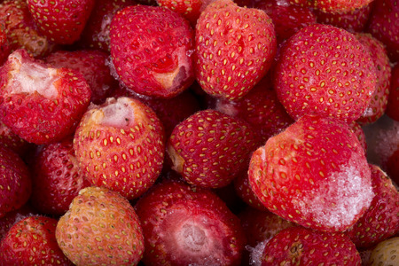 deep freeze: berries in a deep freeze for long term storage Stock Photo