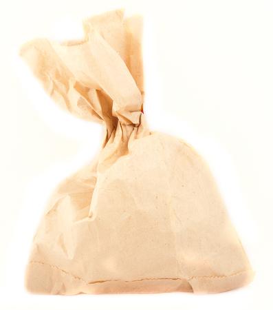 paper packing: embalaje bolsa de papel por separado en un blanco