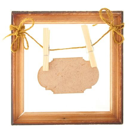 nameplate: wooden frame with nameplate
