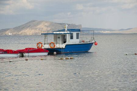 sudak: Sudak, motor boat at the pier