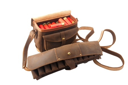 cartridge belt: pouch with cartridges Stock Photo