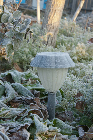 street lamp solar-powered frosted photo