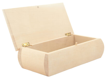 separately: wooden chest on white separately