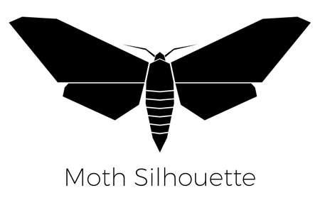 moth: Moth Silhouette Symbol