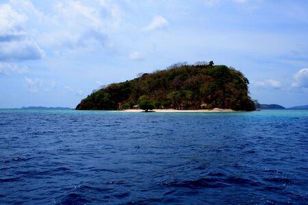 palawan: ocean and island in blue sea in palawan philippines Stock Photo