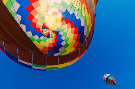 The bottom of a hot-air balloon Stock Photo