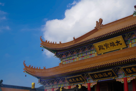 The eaves of the Buddhist temples in China
