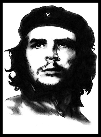 Portrait of Che Guevara Editorial