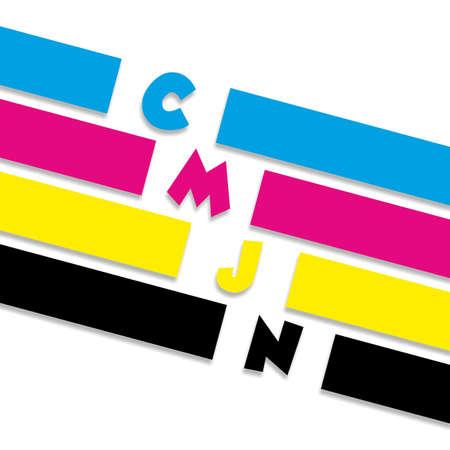 brillant: Conceptual CMYK vector illustration Illustration