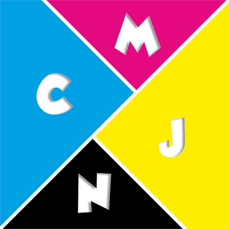 brillant: Conceptual CMYK illustration