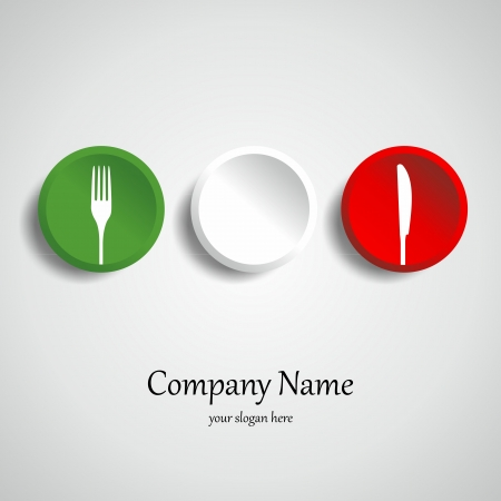 Food restaurant logotype vector illustration