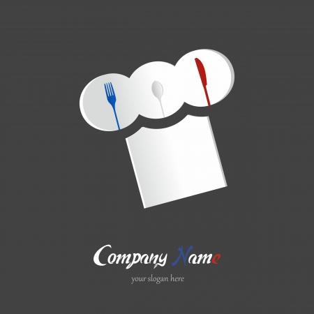 french cuisine: Food restaurant logotype vector illustration