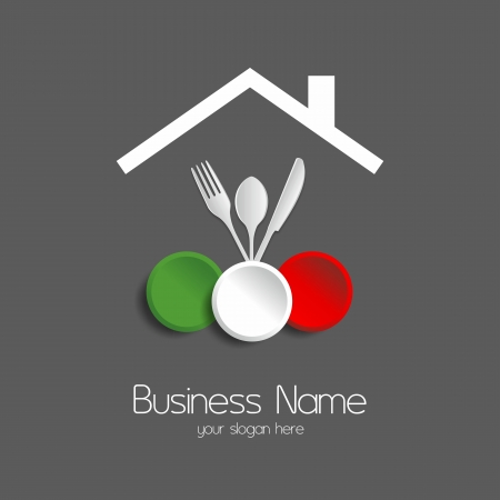 Food restaurant logotype vector illustration