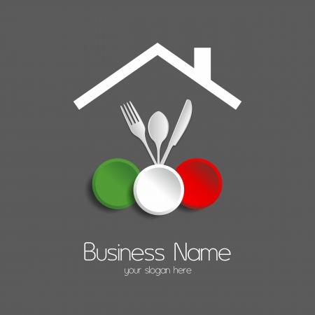 Les repas du restaurant illustration vectorielle de logotype