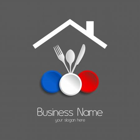Les repas du restaurant illustration vectorielle de logotype Logo